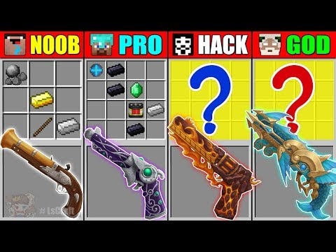 Minecraft Noob Vs Pro Vs Hacker Vs God The Best Gun Crafting Battle In Minecraft Animation