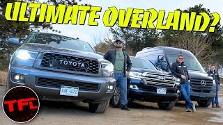 What's The World's Best Overlander?  Land Cruiser vs Sequoia vs Sprinter 4X4 Off-Road Challenge! by The Fast Lane Car