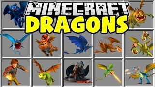 Video Minecraft HOW TO TRAIN YOUR DRAGON MOD | TOOTHLESS, SKRILL, NADDER, TERRIBLE TERROR & MORE!! MP3, 3GP, MP4, WEBM, AVI, FLV September 2018