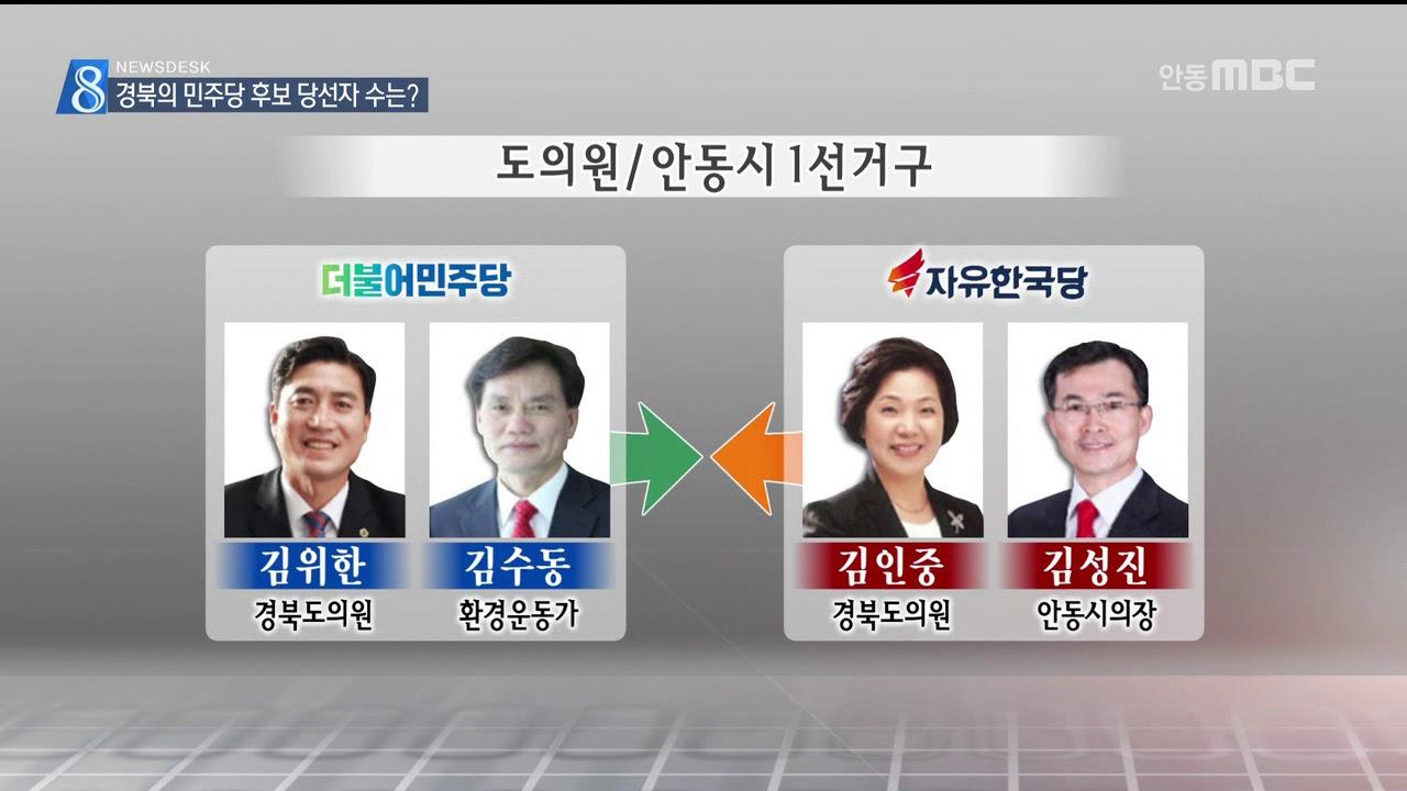 R]경북의 민주당 후보 당선자 수는?