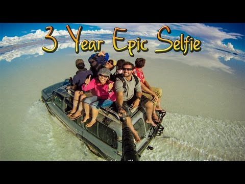 Around the World in 360%C2%B0 Degrees - 3 Year Epic Selfie