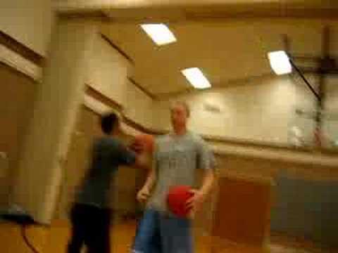 Funny basketball shot