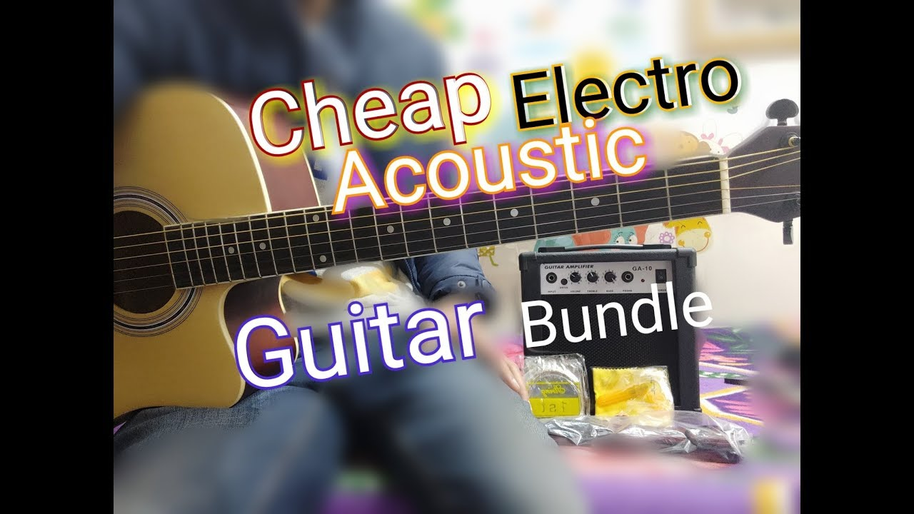 Cheap Electro Acoustic Guitar Bundle – Vault Ed10 ce with Ga10 amplifier & Accessories Review hindi