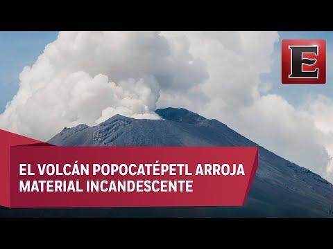 Ceniza del Popocatépetl cae en Morelos