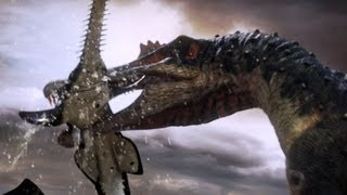 Spinosaurus fishes for prey | Planet Dinosaur | BBC