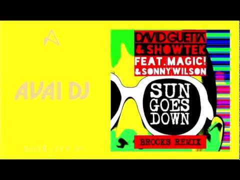 David Guetta & Showtek feat. Magic! & Sonny Wilson – Sun Goes Down (Brooks Remix)