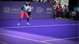 Venus Williams treinando em Florianópolis