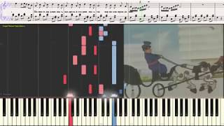 Песня старого извозчика - Леонид Утёсов (Ноты и Видеоурок для фортепиано) (piano cover)