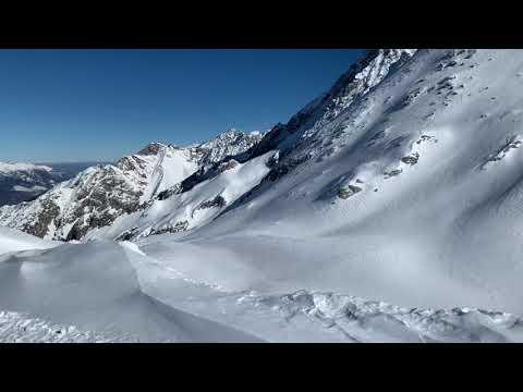 pista VARIANTE PRESENA PARADISO sul ghiacciaio del Presena