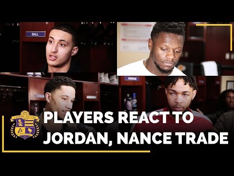 Video: Lakers Player's REACTIONS To Trading Jordan Clarkson And Larry Nance Jr.