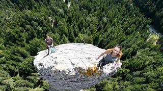 La vertigineuse ascension du Monolithe de Sardières
