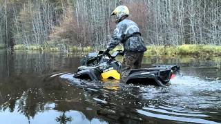 5. can am outlander xt 800 doing some depth finding