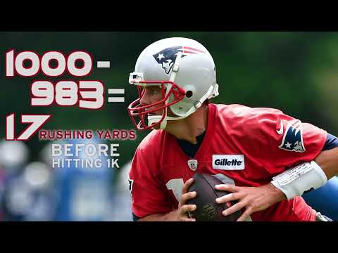 Video: Will Tom Brady hit 1,000 rushing yards Sunday against the Bears?