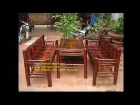 Sản xuất bàn ghế tre, giường tre, sofa tre, nội ngoại thất tre....