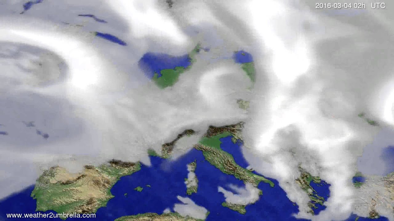 Cloud forecast Europe 2016-02-29