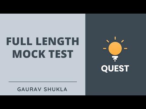 Full Length Mock Test for UPSC CSE 2020 | Crack UPSC CSE/IAS | Gaurav Shukla