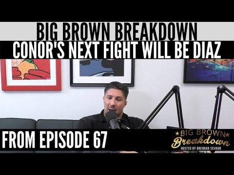 Brendan Schaub - I Think Conor's Next Bout Will Be Nate Diaz (видео)