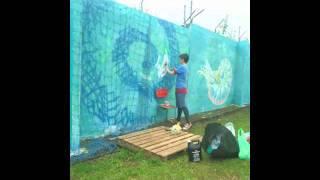 Océano Místico -- Mural Time Lapse