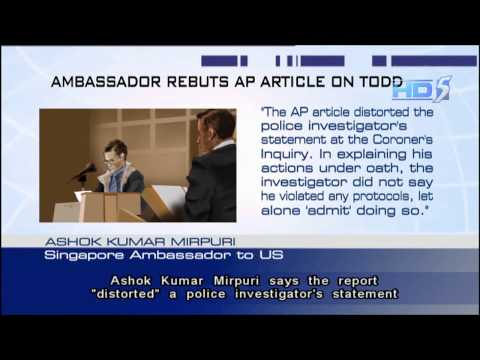 """AP article on Todd's death """"inaccurate, misleading and mischievous"""" – 30May2013"""