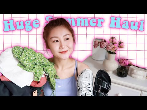 【Huge Summer Try On Haul】近期购物穿搭分享|手已经剁掉了 видео