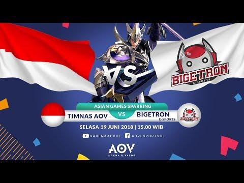 Sparring ASIAN GAMES - Timnas AOV Indonesia VS Bigetron E-Sports  - Garena AOV (Arena of Valor) (видео)