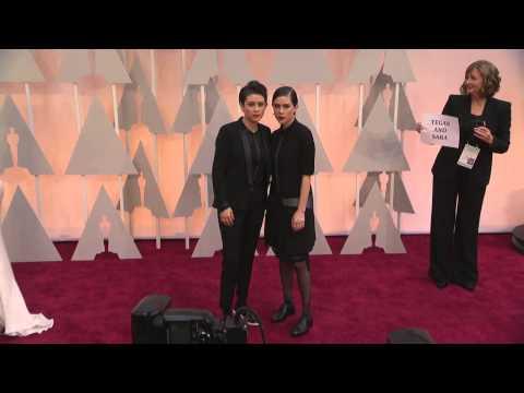 Oscars: Tegan and Sara  Red Carpet Fashion (2015)