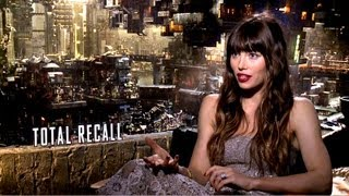 Total Recall - Jessica Biel Interview (JoBlo.com)