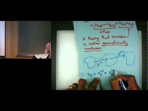 Introduction to Continuum Mechanics Lecture #10