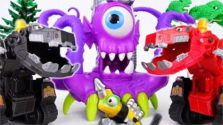 Video A Giant Purple Monster From The Sea~! Go Dinotrux Defeat The Monster MP3, 3GP, MP4, WEBM, AVI, FLV Juli 2018