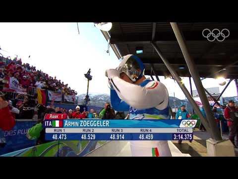 Zoeggeler - Men's Luge Singles - Vancouver 2010 Winter Olympic Games