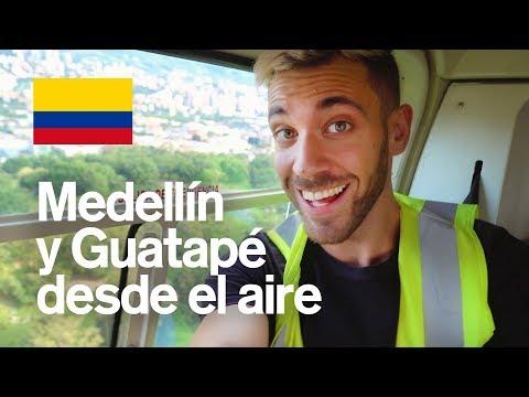 SOBREVOLANDO MEDELLÍN EN HELICÓPTERO  Y GUATAPÉ  COLOMBIA