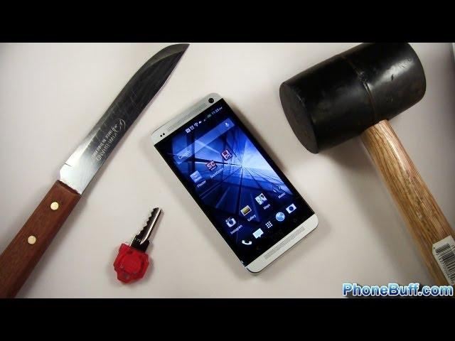 HTC One Hammer & Knife Scratch Test