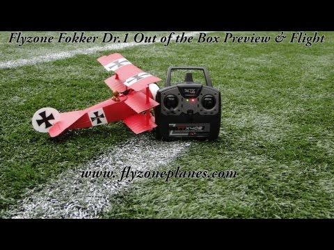 Flyzone Fokker DR1 RTF, BNF Micro Plane Review & Flight Test