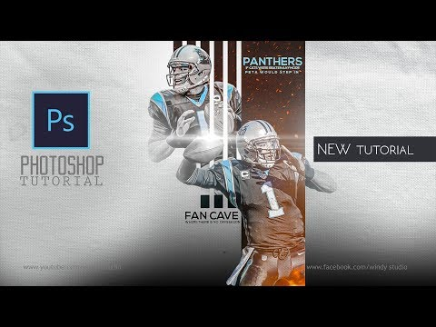 Adobe Photoshop Tutorial l  sports poster Design l Panthers