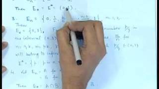 Mod-01 Lec-01 Algebra Of Sets - I