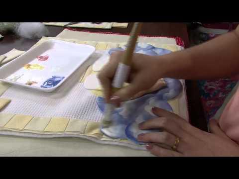 Mulher.com 16/01/2014 Priscila Muller - Pano para Porta Maternidade P