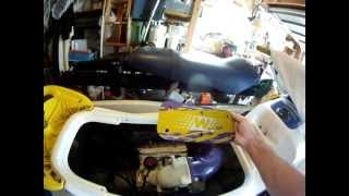 10. How to Remove a Jet Ski Air Cleaner , it is not obvious , hence this video , diy