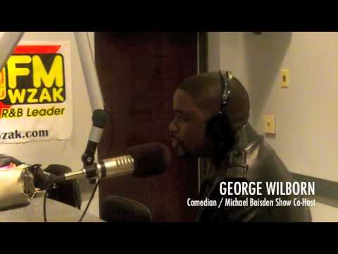 Comedian George Wilborn chats with Karen Vaughn