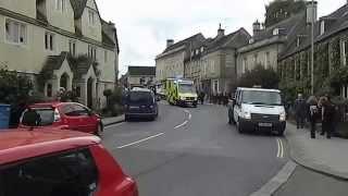Bradford on Avon United Kingdom  city pictures gallery : Ambulance on emergency call 999 911 Bradford on Avon Wiltshire England UK