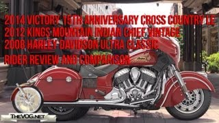 6. Indian Chieftain vs Victory Cross Country vs Harley Ultra Rider Review and Comparison