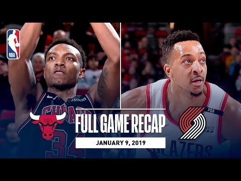 Video: Full Game Recap: Bulls vs Trail Blazers | CJ McCollum Handles Are On Display In Portland
