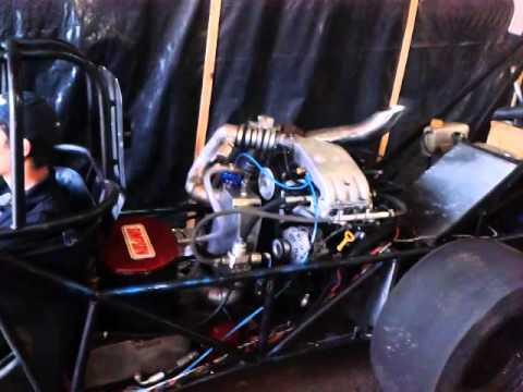 Ibirubá - Primeiros testes do Dragster Light 4 cilindros na Mecânica Top Car em Ibirubá-RS...