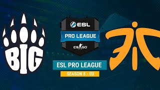 BIG vs Fnatic - ESL Pro League S8 EU - bo1 - de_overpass [MintGod]