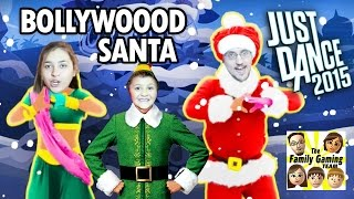 Lets Play Just Dance 2015! Santa Bollywood CHRISTMAS TREE w/ FGTEEV Mike, Mom & Dad