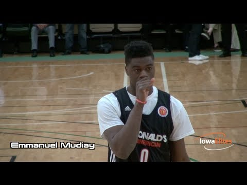 Emmanuel Mudiay Highlights @ McDonald's All-Am. Games