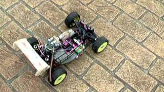 Four Stroke Rc Buggy With Saito40 Aircraft Engine. First Run.