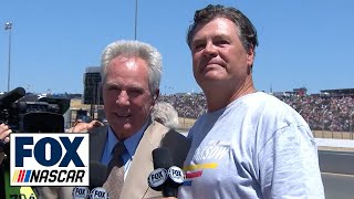 Michael Waltrip shares the gridwalk with his brother Darrell | NASCAR on FOX by FOX Sports