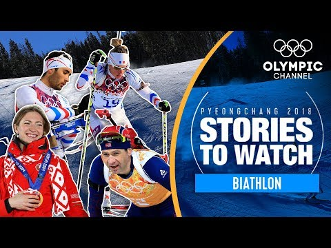 Biathlon Stories to Watch at PyeongChang 2018 | Olympic Winter Games (видео)