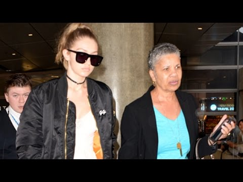 Gigi Hadid Towering Over Regular People At LAX