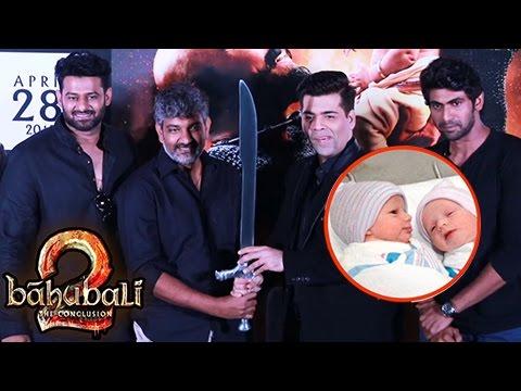Karan Johar Gifts Kattappa's Sword To His Twins |
